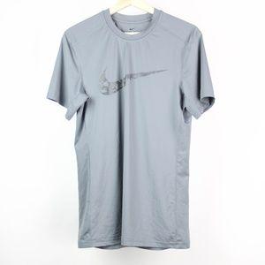 Nike Mens T-Shirt Fitted Swoosh Dri Fit Small
